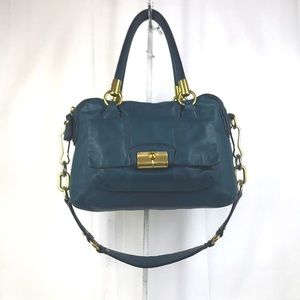 Coach Kristen Teal Leather Satchel with w/ Strap